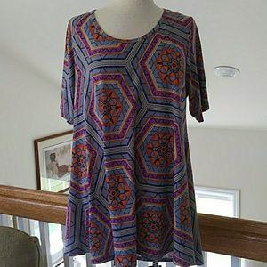 LulaRoe print tunic top